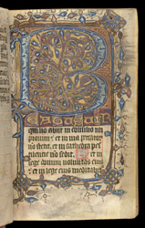 Psalm 1, in a Psalter f.8r